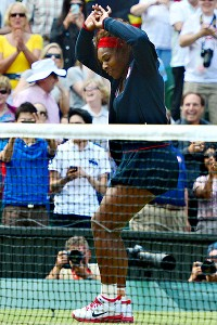Serena Williams danced after she won the singles gold medal in tennis.