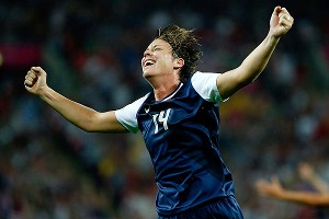 Abby Wambach helped lead the United States to an Olympic gold medal last summer at the London Olympics.