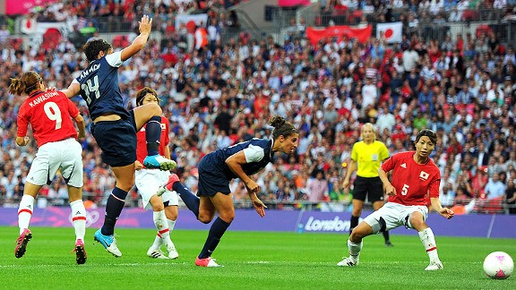 Carli Lloyd was nothing short of stellar in the U.S. midfield, scoring two great goals and dictating play.