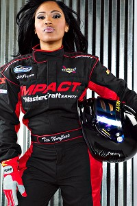 Tia Norfleet, the daughter of NASCAR pioneer Bobby Norfleet, races for her father's team and debuted in NASCAR on Aug. 4 at the CMC Supply Twin 100s, finishing 23rd.