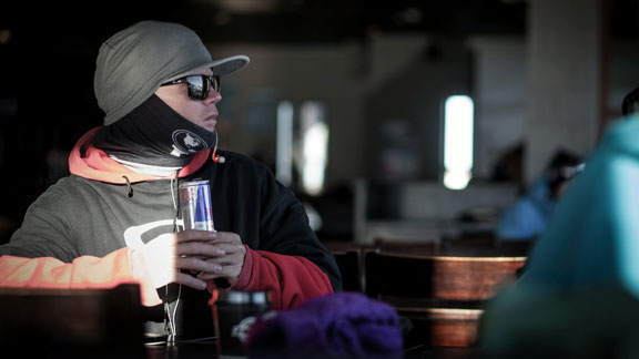 Tanner Hall at the Red Bull Snow Performance Camp in New Zealand last week.