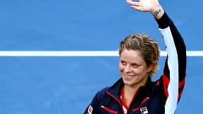 Kim Clijsters waved goodbye to the crowd at the U.S. Open.