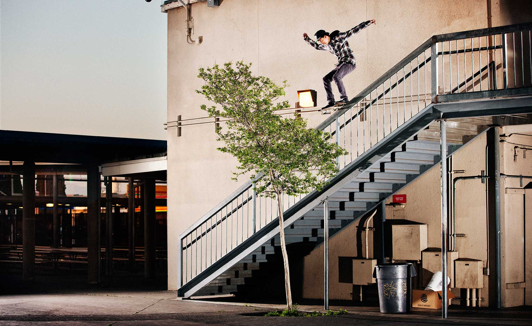 That's one massive 5-0 grind -- Nyjah takes it in stride.