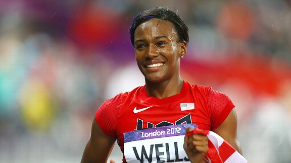 Kellie Wells hasn't slowed down since winning a bronze medal in London.
