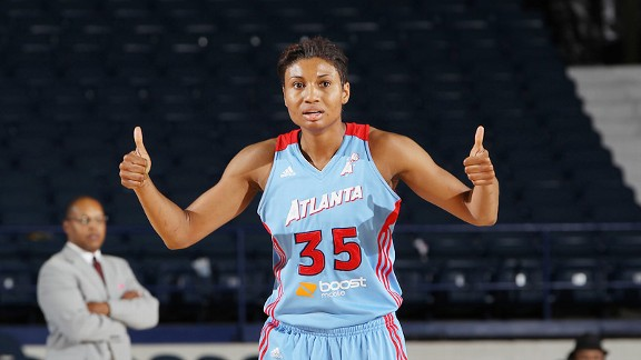 Angel McCoughtry says she is passionate about both basketball and music.