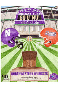 Roach created this program for the football games between Northwestern and Illinois at Wrigley Field in 2010.