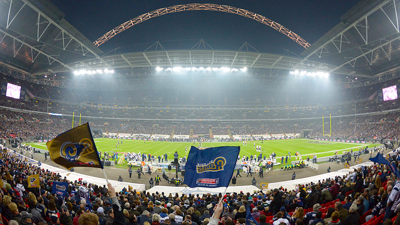 The New England Patriots and the St. Louis Rams played at Wembley Stadium last October.