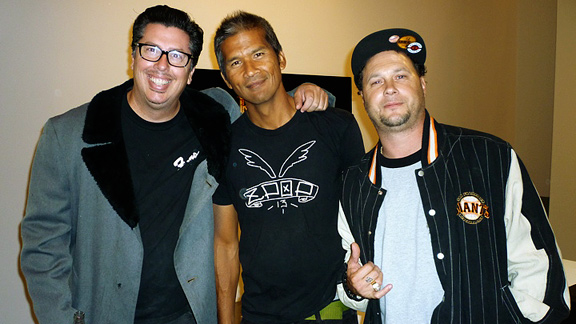 Black Label's John Lucero, Love and Guts curator Pat Ngoho and Ace Trucks ace Joey Tershay.