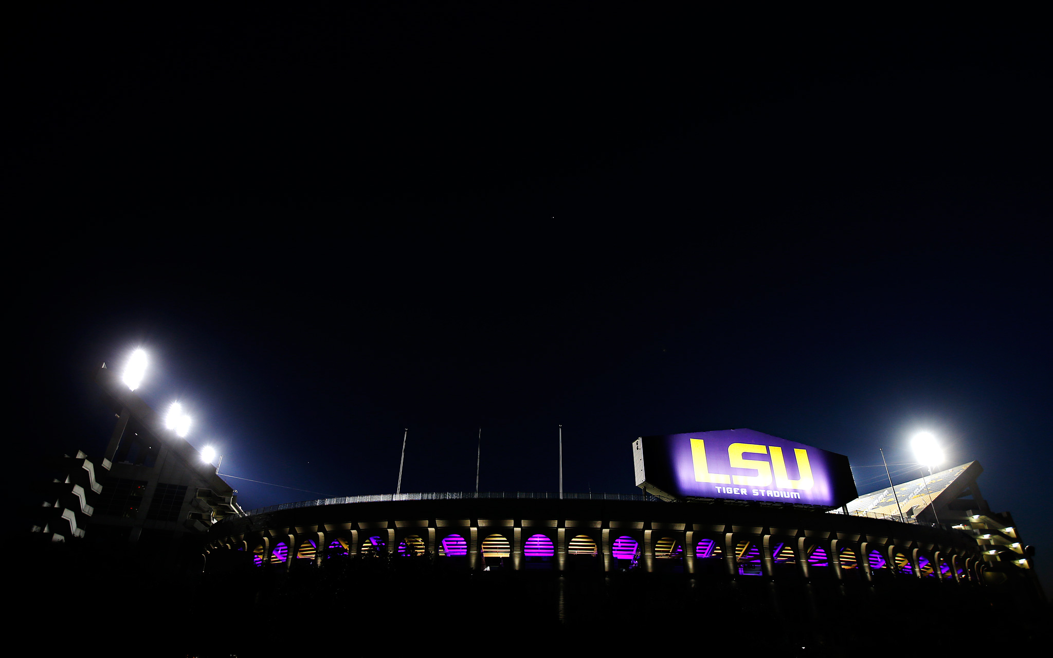 Tiger Stadium at Night