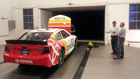 Toyota in wind tunnel