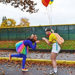 Bekah Kurle and Lorielle McCluskie dressed up as characters from Up.