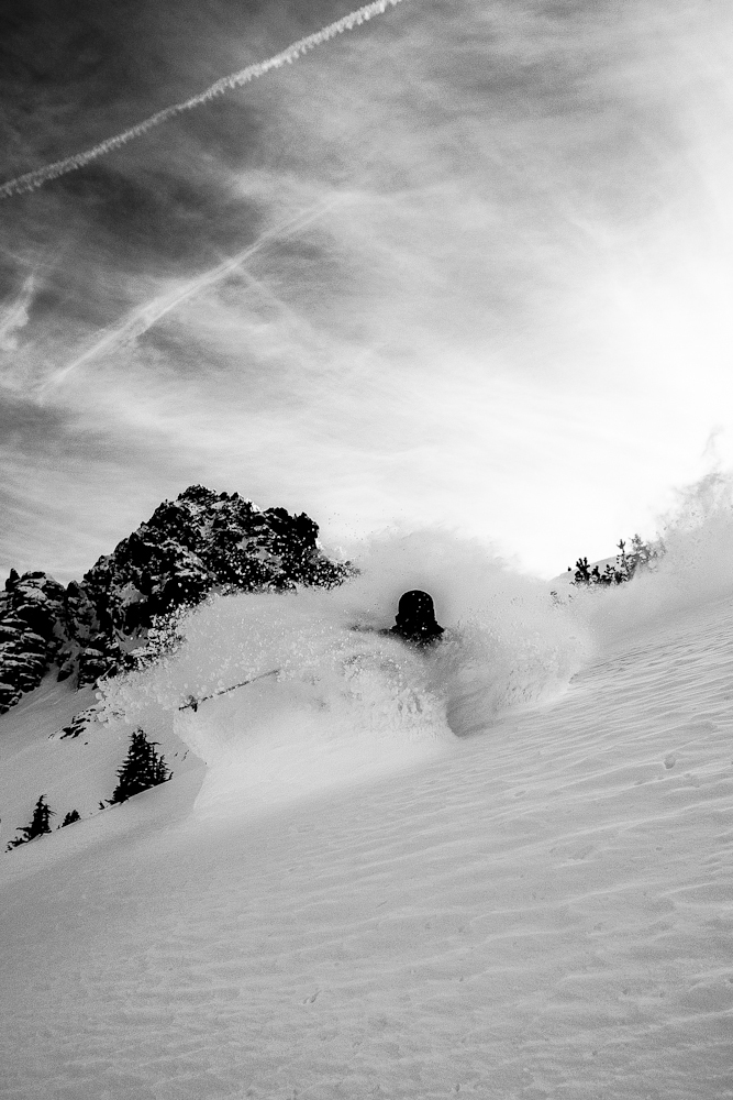Mammoth local Chris Benchetler proves that the two-foot storm was not hype.