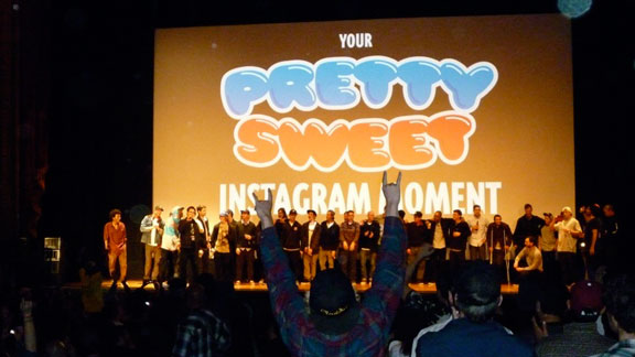 The Girl and Chocolate teams who worked together on Pretty Sweet greeted the crowd before the premiere.
