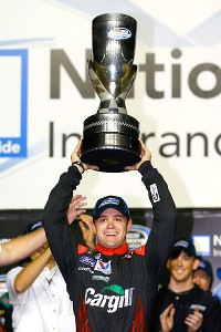 Ricky Stenhouse Jr. became just the sixth driver to win consecutive NASCAR Nationwide Series titles.
