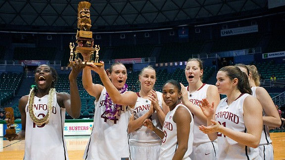 Stanford spent the weekend in Hawaii, upending defending NCAA champion Baylor, as well as Tennessee-Martin and host Hawaii to win the Jack in the Box Rainbow Wahine Classic.