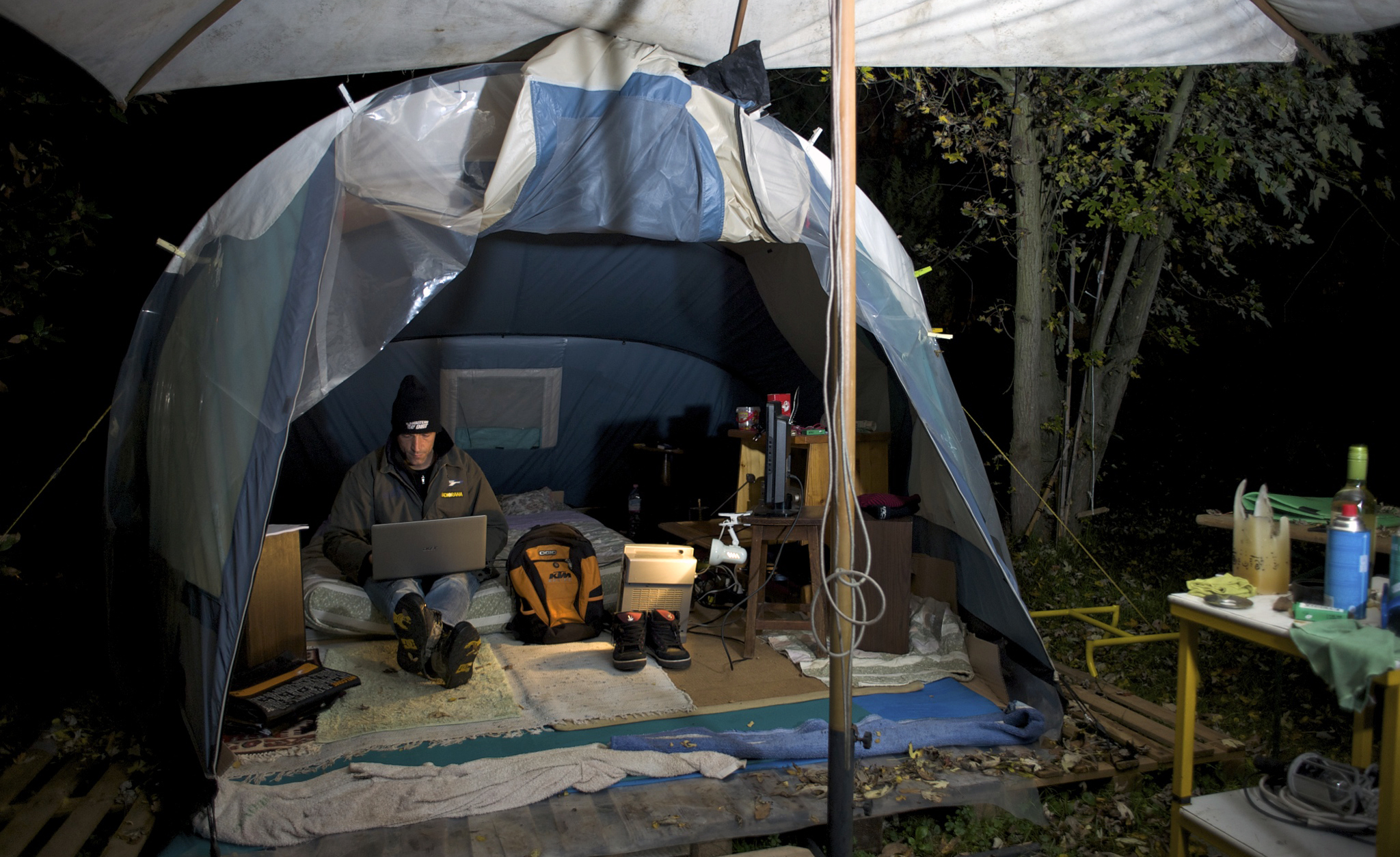 Lorenzo Magnoni's Tent