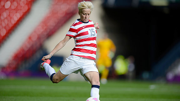 It's awesome that we rock the same jerseys as the men, Rapinoe says.