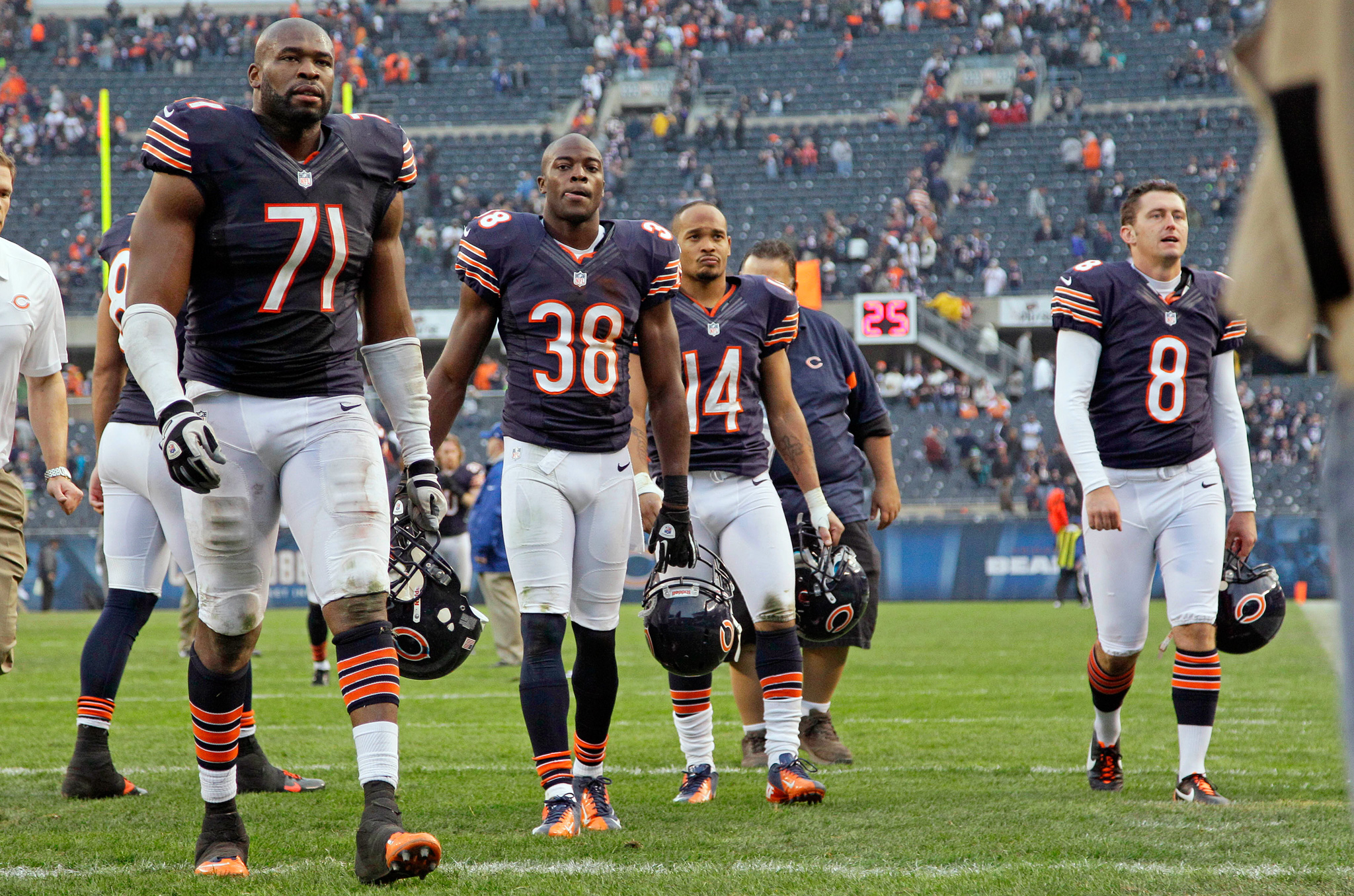 Bears walk off the field after loss