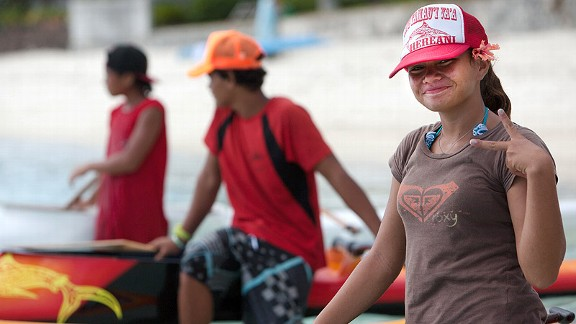 Hereani Teahurai was just 11 last year and required a waiver and her father trailing her boat during the races in which she won the women's division and finished in the top 50 overall.