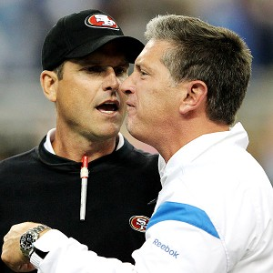 A 2011 postgame handshake between Jim Harbaugh and the Lions' Jim Schwartz escalated into a confrontation.