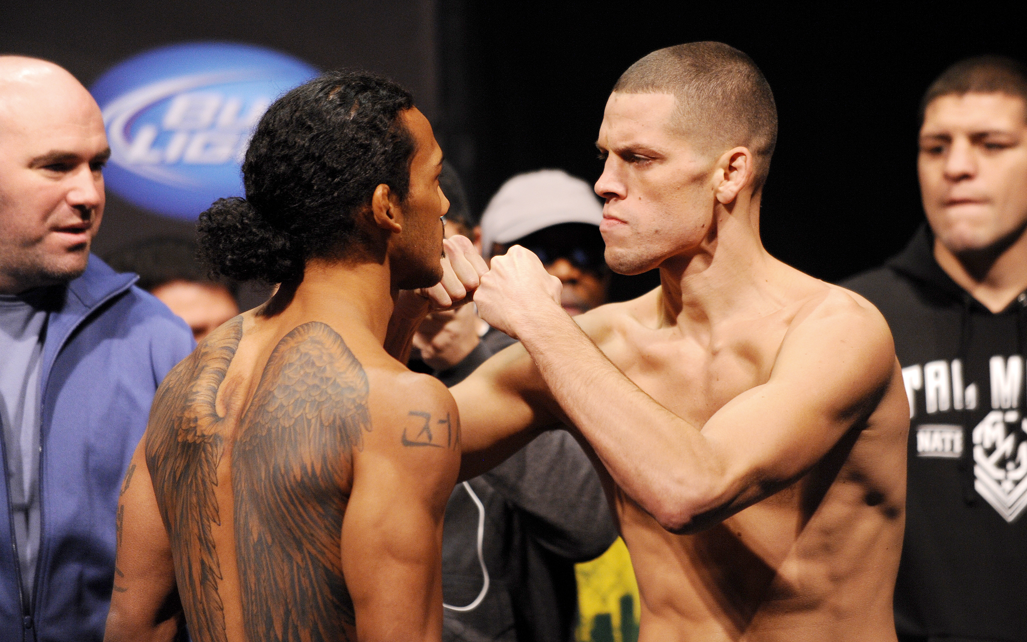 Benson Henderson and Nate Diaz, Weigh-in
