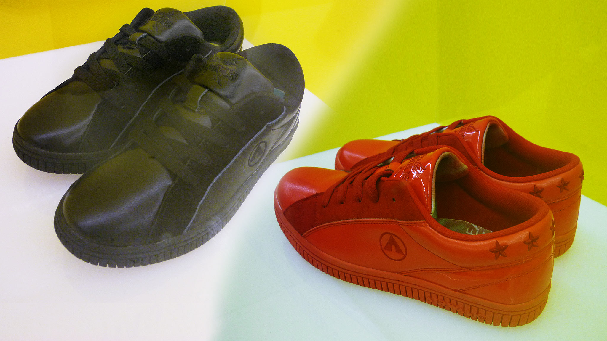 The Red and the Black: Airwalk's limited Already Famous edition One sneaker.