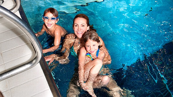 Constant sources of inspiration for Summer Sanders: her two kids, Spider and Skye.