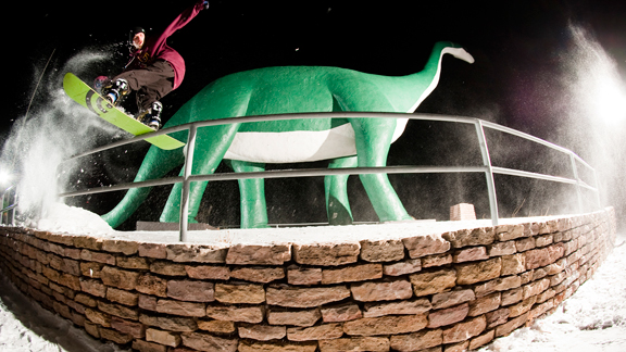 Cody lands a prehistoric front board in modern day Rapid City.