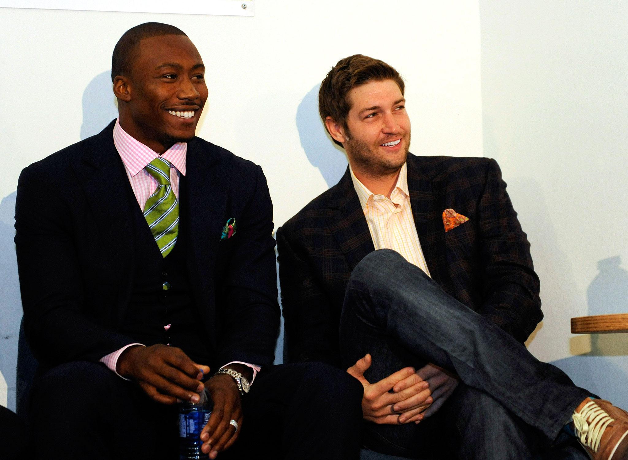 Jay Cutler and  Brandon Marshall