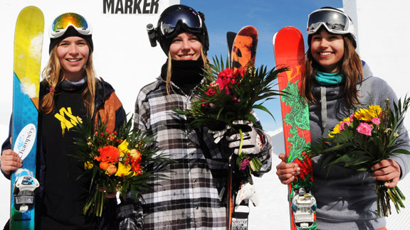 The podium: Camillia Berra, Lisa Zimmermann, and Zuzana Stromkova.