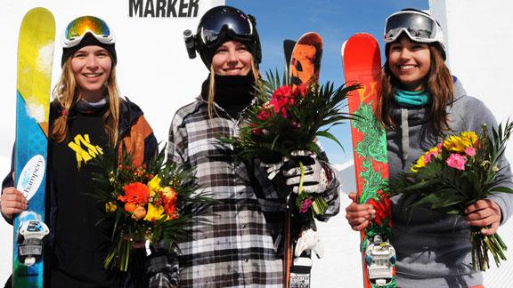 The podium: Camillia Berra, Lisa Zimmermann, and Zuzana Stromkova.
