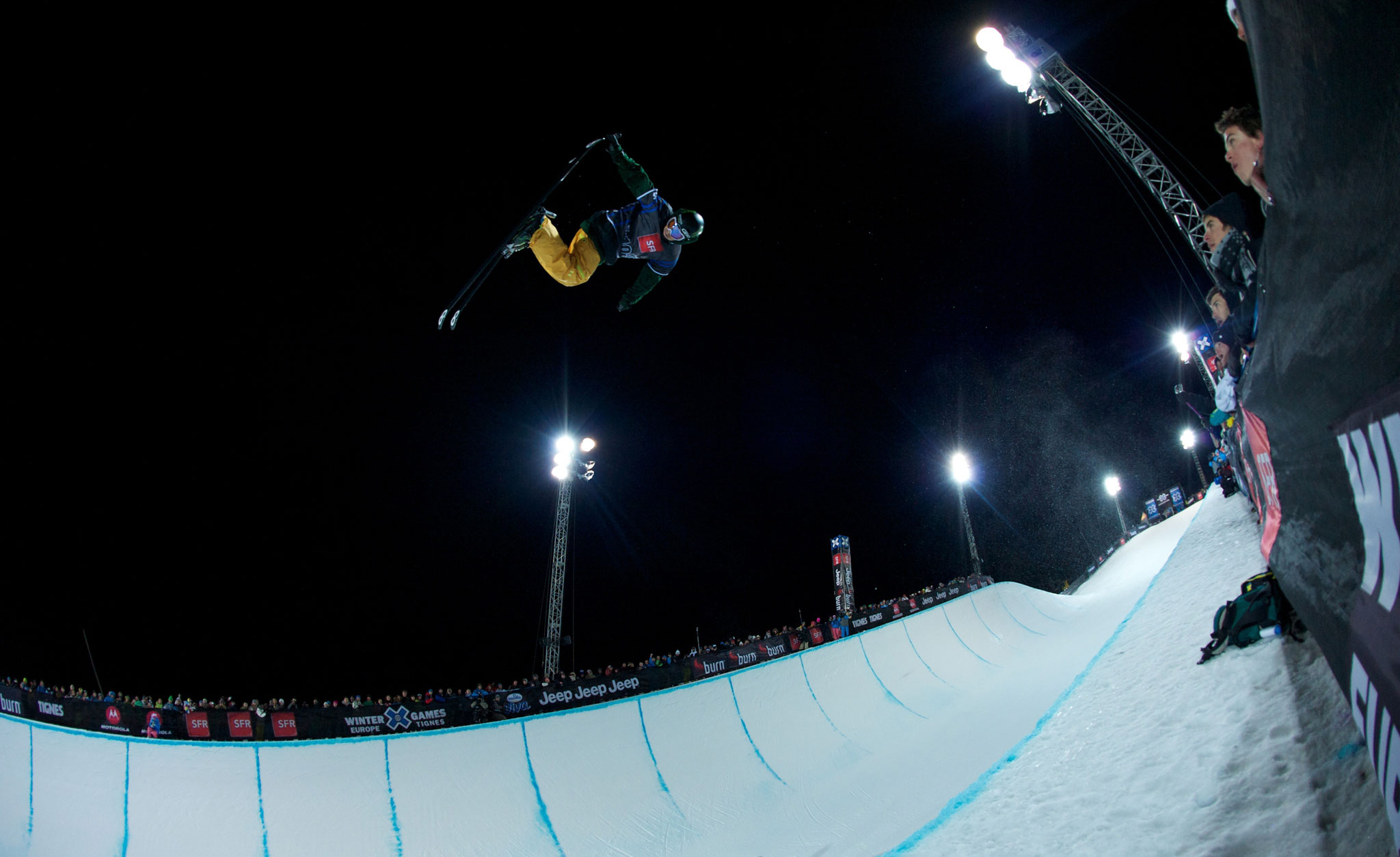 Justin Dorey competing at Winter X Games in Tignes, France.