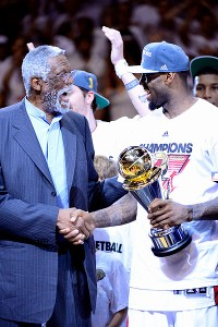 Bill Russell was near the front of the line in acknowledging LeBron James' 2012 excellence.