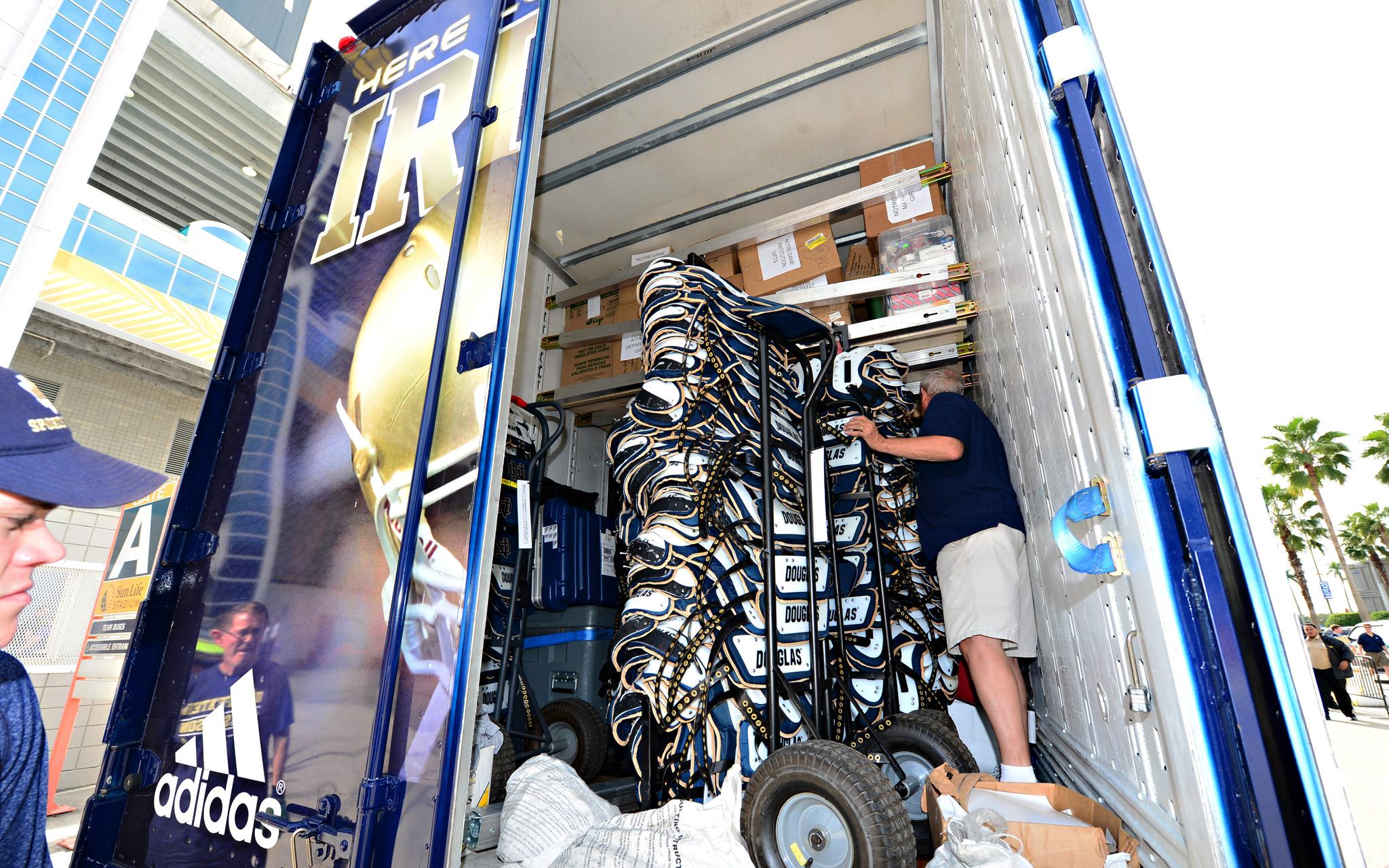 Notre Dame equipment truck