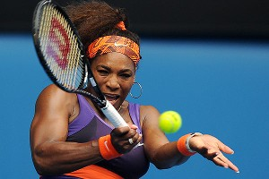 Serena Williams didn't appear to be slowed by an ankle injury suffered in her opening match as she advanced to the third round.