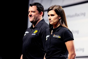 Danica Patrick and her race team owner, Tony Stewart, have set realistic goals for the 2013 Sprint Cup campaign.
