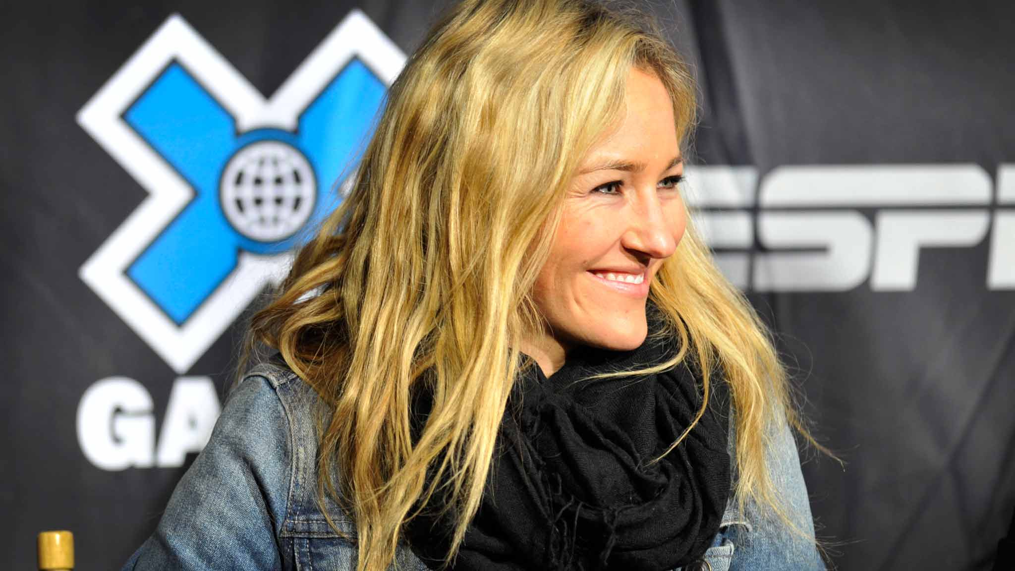 Gretchen Bleiler attending the athlete press conference at Winter X Games Aspen 2012.