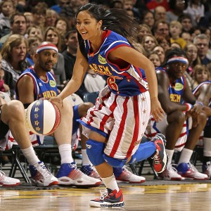 Her ballhandling skills helped Tammy T-Time Brawner land a spot with the Harlem Globetrotters.