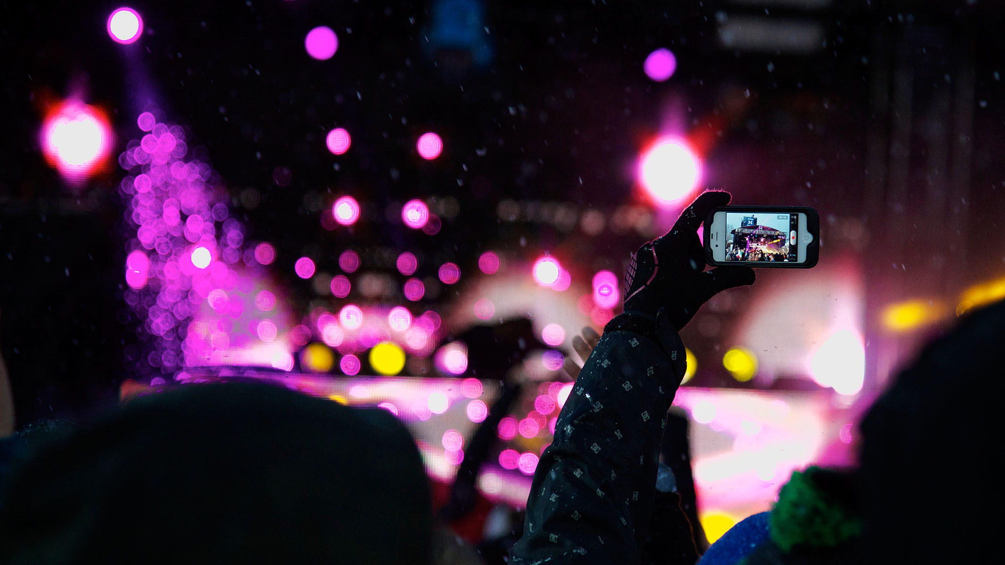 iPhones were out in full force, recording key moments from Calvin Harris' electrifying set at X Games Aspen 2013.