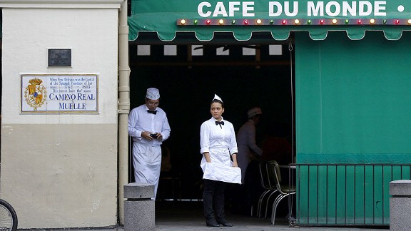 The original Cafe Du Monde coffee stand opened in New Orleans in 1862. Today, it is open 24 hours a day.