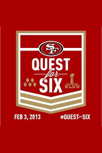 As Super Bowl fever has spread, droves of 49ers fans have changed their avatars to the Quest for Six badge.