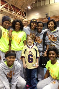 Meeting the Lady Roaneagle hoops team. Had so much fun!