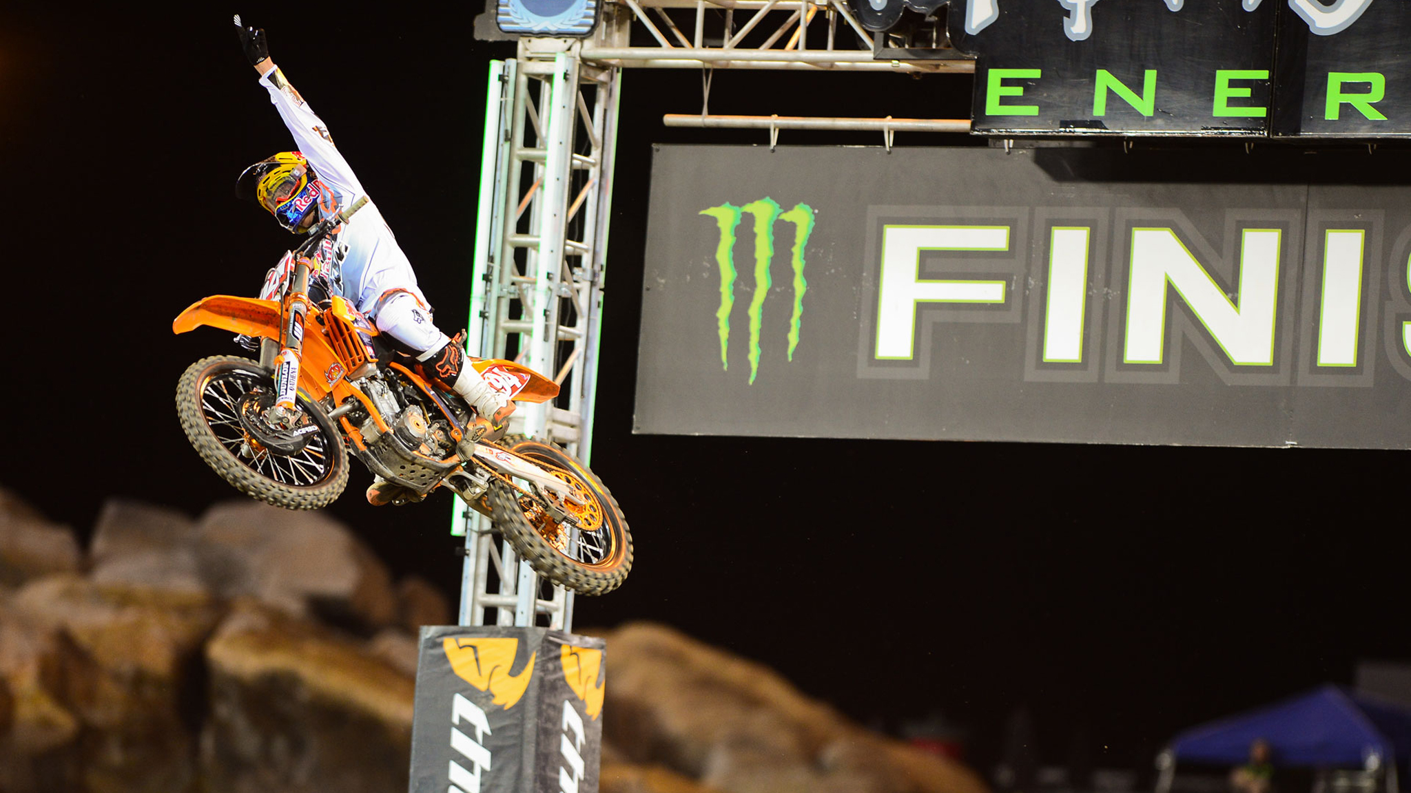 Ryan Dungey earned his first Supercross win of the season in Anaheim.
