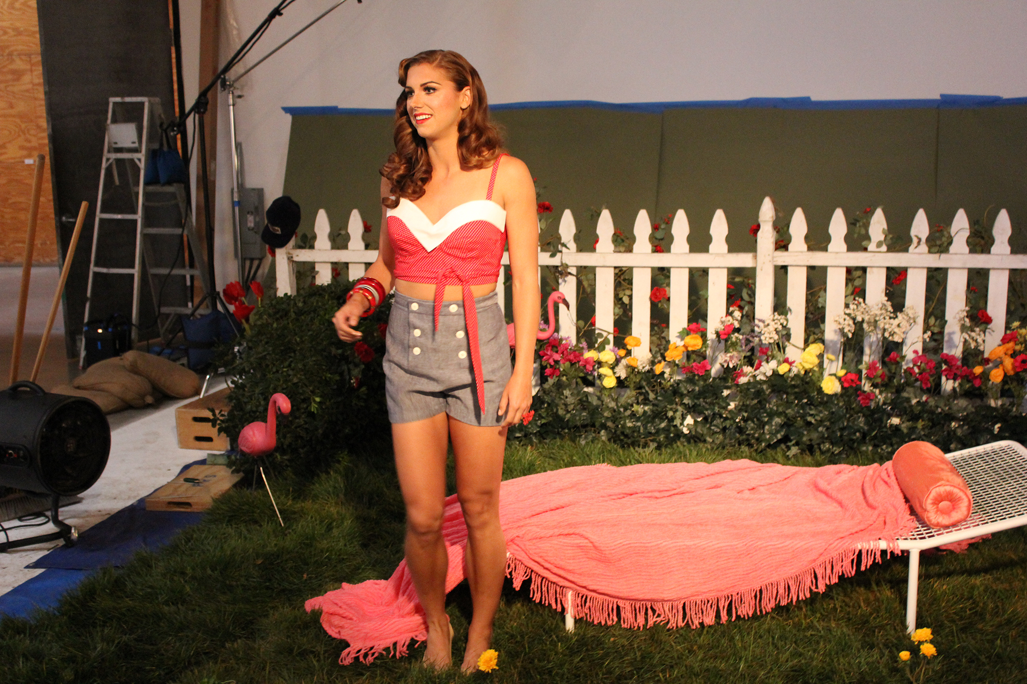 Photos & Video: Alex Morgan poses as Katy Perry for ESPN's 'music issue' magazine