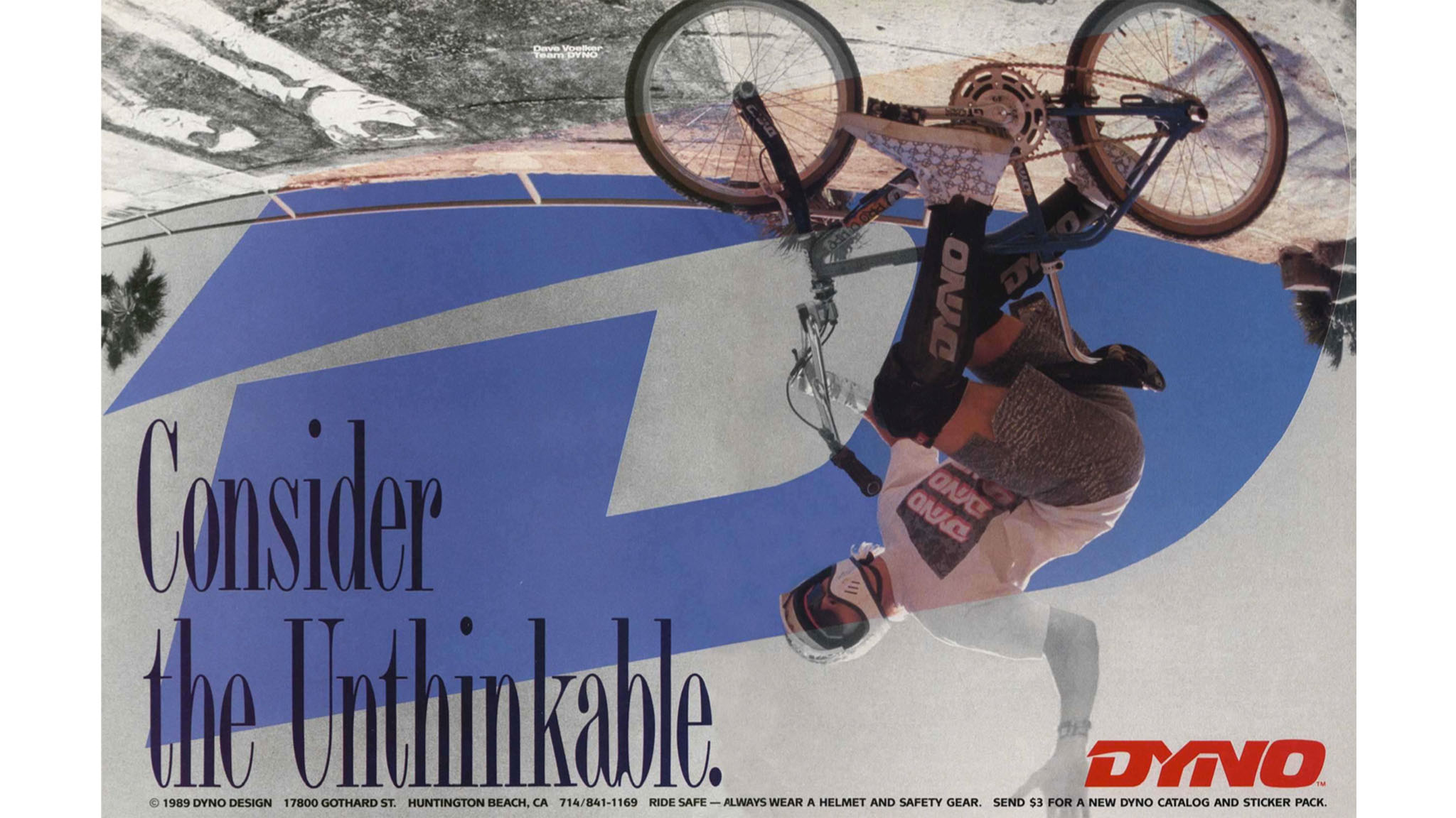 Dave Voelker as seen in a GT/Dyno ad in 1990.