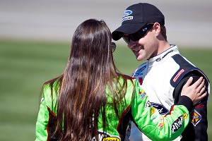 Danica Patrick and Ricky Stenhouse Jr. first met at a Nationwide Series rookie meeting in 2010.