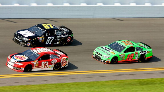 Danica Patrick fell back from the start and finished 17th but, more important, kept her fast car intact.