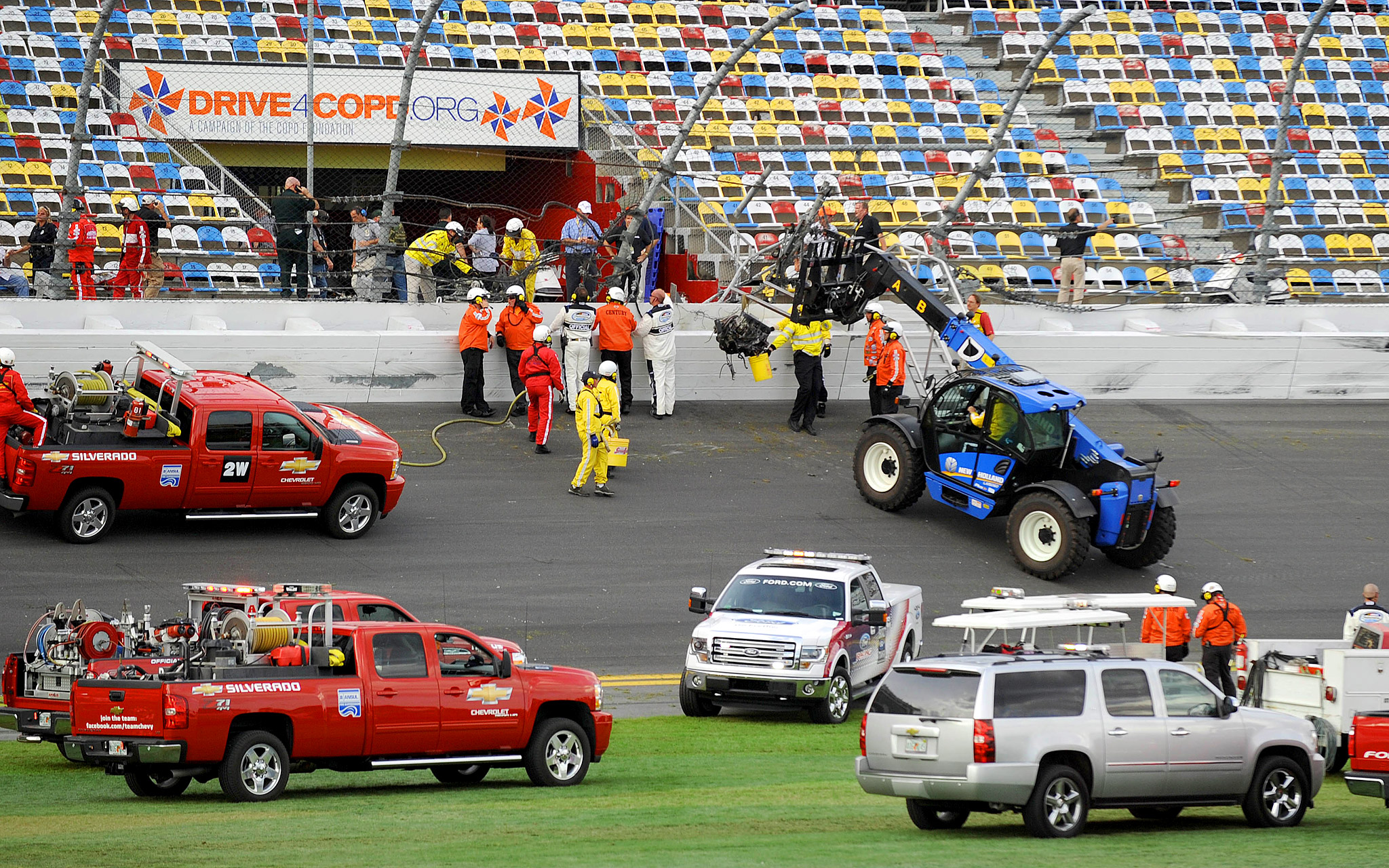Officials pull engine from stands