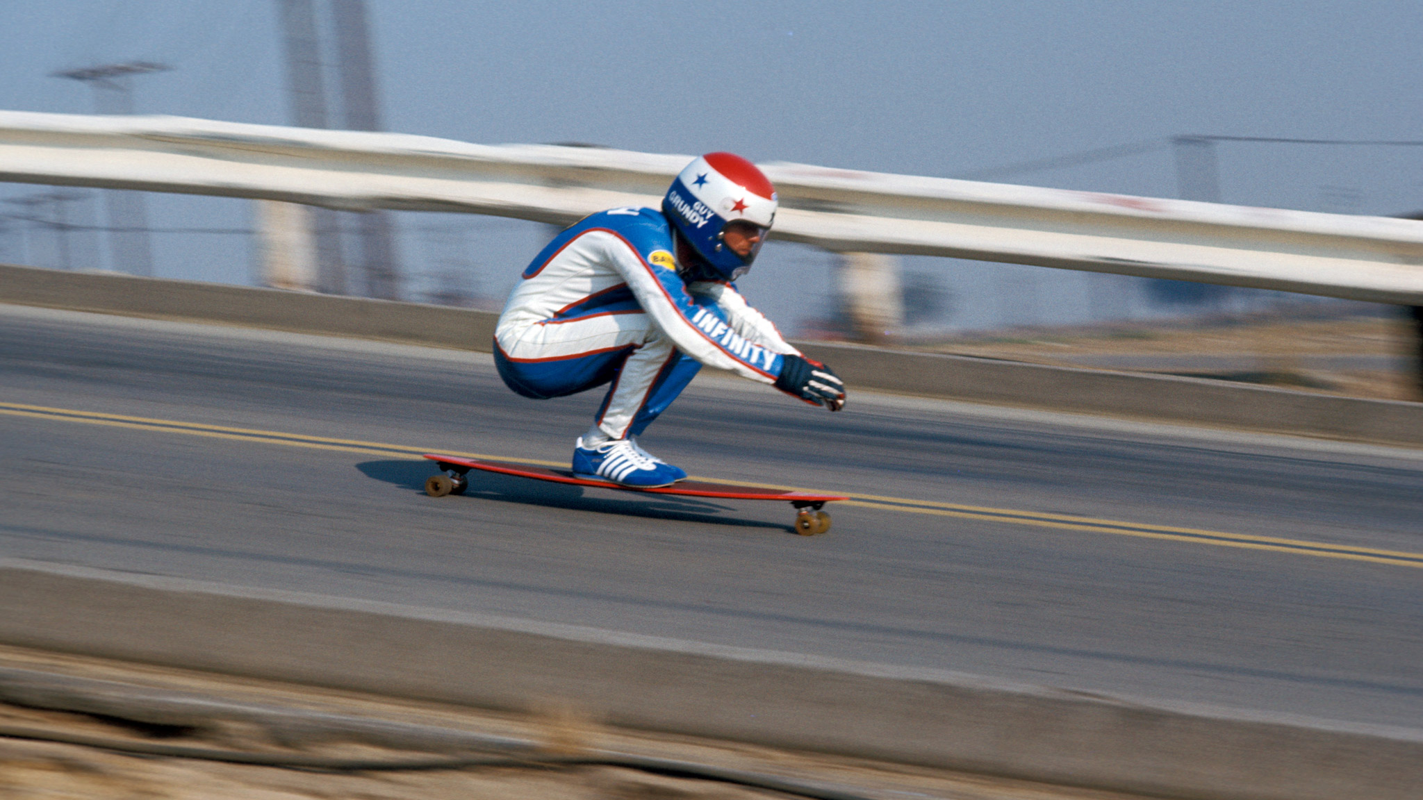 Downhill skateboarding vintage 70s
