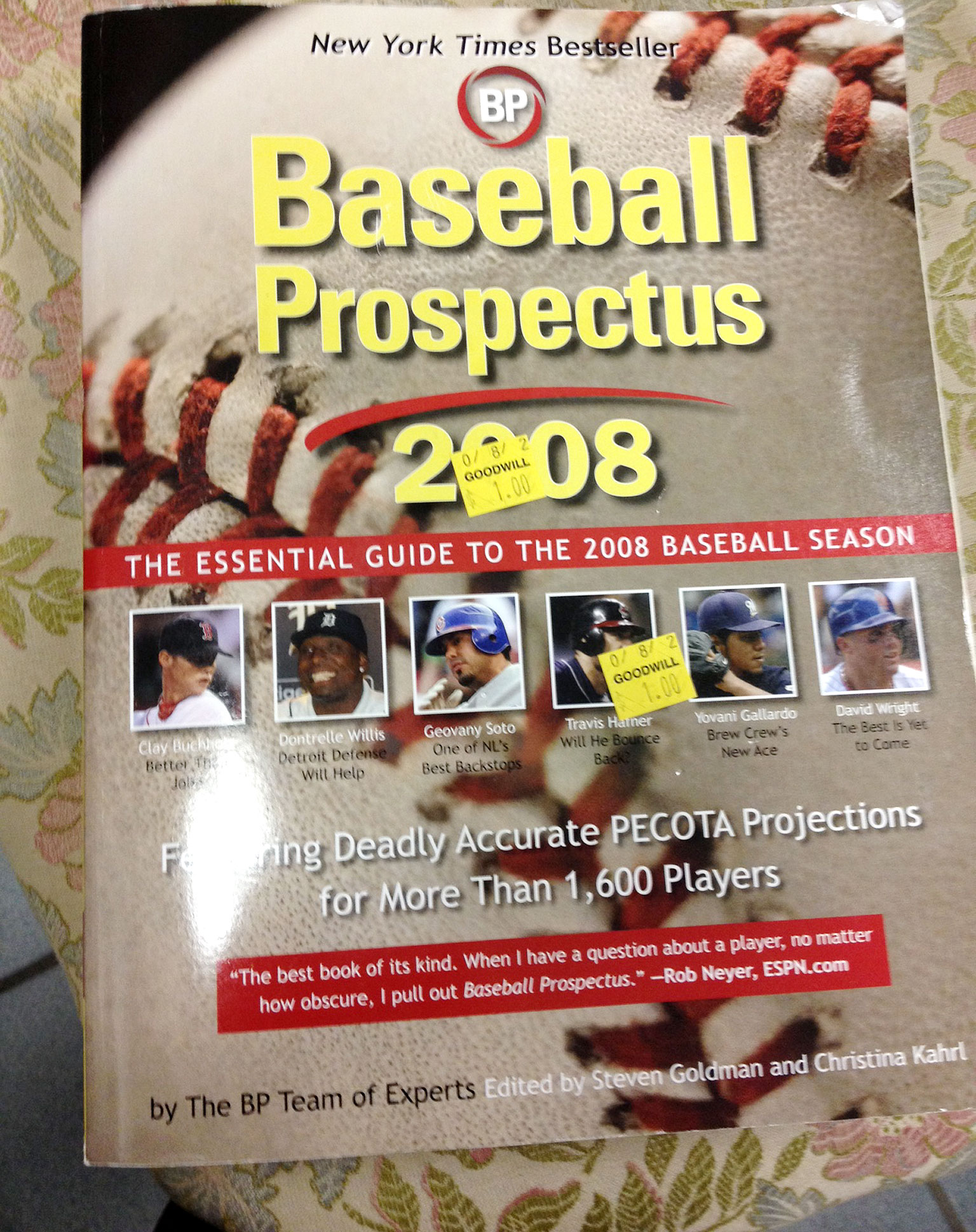 Baseball Prospectus 2008: $1